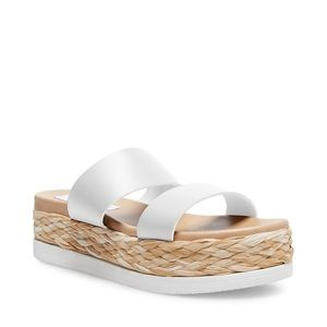 STEVE MADDEN Constance Wicker Platform Sandal